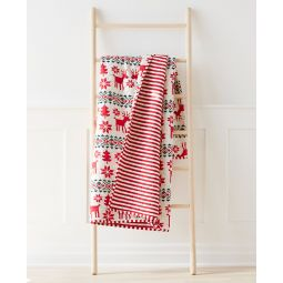 H Holiday Quilted Blanket