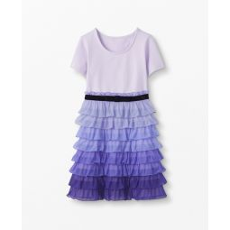 Ruffle Dress In Ombre Tulle