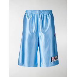 high shine jersey shorts