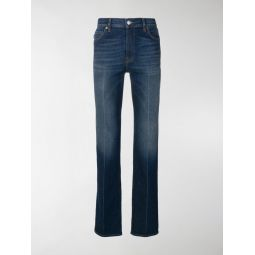 fitted whiskered jeans