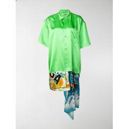 foulard panelled shirt dress