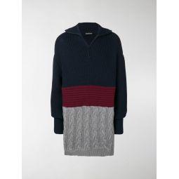 layered high neck sweater