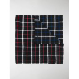 two sides checked scarf