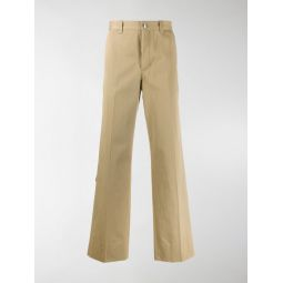 D-ring detail cotton trousers
