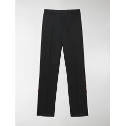 Logo Print Two-tone Wool Mohair Trousers