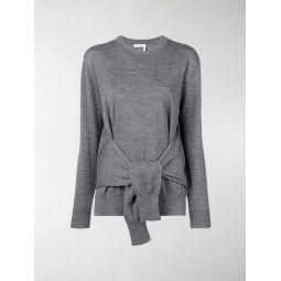fine knit tie-waist top