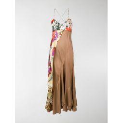 floral scarf detail dress