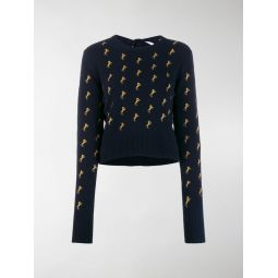 horse embroidered jumper