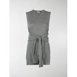 knot-detail sleeveless knitted top