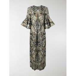 lurex paisley dress