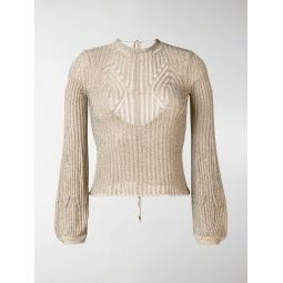 open back knitted jumper