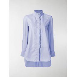 ruffle trim cotton shirt
