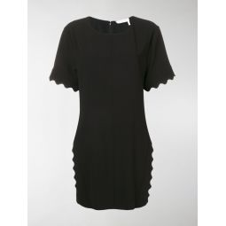 scallop trim mini dress
