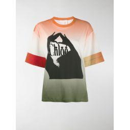 shadow-print T-shirt