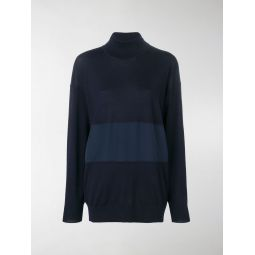 turtle-neck panelled sweater