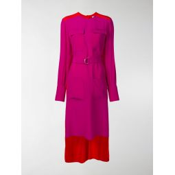 two tone D ring silk dress