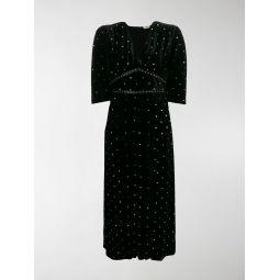 embellished flared maxi dress