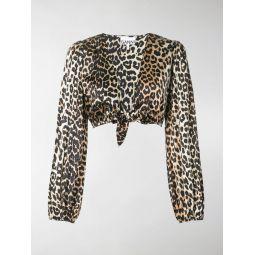 leopard print cropped shirt