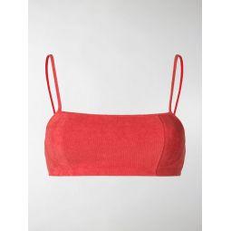 towelled bikini top