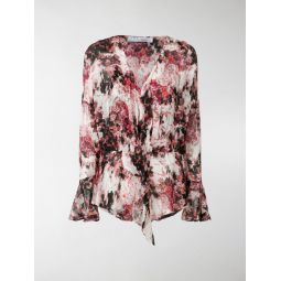 all-over print blouse