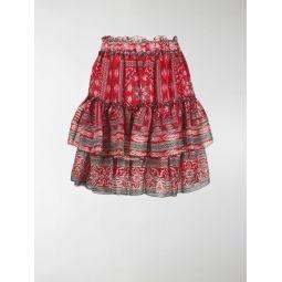 ruffle tiered skirt