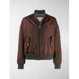 patterned bomber jacket
