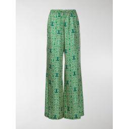 printed drawstring trousers