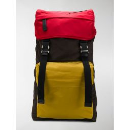 large colour-block backpack