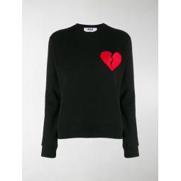 broken heart patch sweatshirt