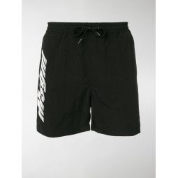 contrast-logo swim shorts