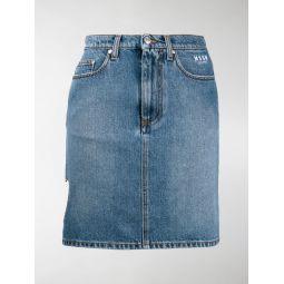 heart cut-out denim skirt