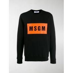 logo box print sweatshirt