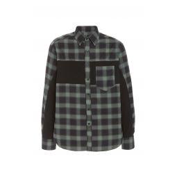 Plaid Patchwork Cotton-Blend Shirt
