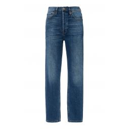 Cropped High-Rise Slim-Fit Jeans