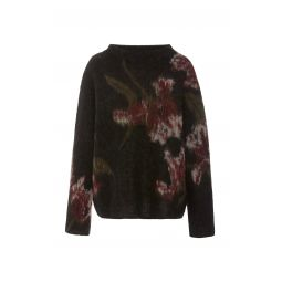 Floral Brushed Wool-Blend Sweater