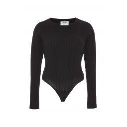 Ribbed Cotton-Jersey Bodysuit