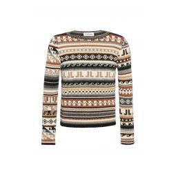 Ribbed Knit Pattern Sweater