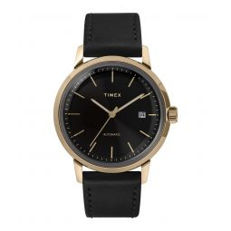 Timex Marlin Automatic 40mm Leather Strap Watch - Todd Snyder