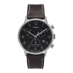 Timex Waterbury Classic Chronograph 40mm Leather Strap Watch - Todd Snyder