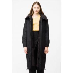 Down Coat in Black