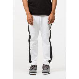 23 Engineered Side Zip Pant in White/Black