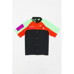 Jordan Moto Short Sleeve Top in Black/Orange/Green