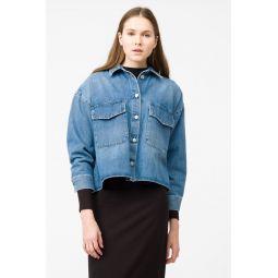 MM6 Denim Jacket in Steel/Blue