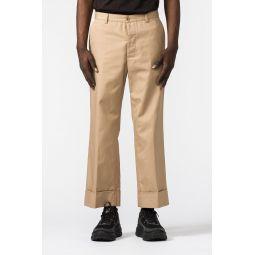 Trousers in Khaki