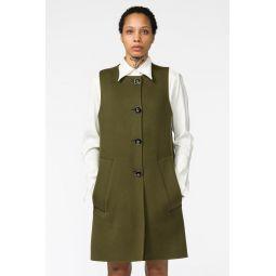 Waistcoat in Dark Olive