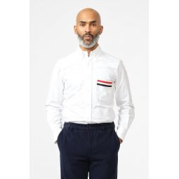 Grosgrain Pocket Classic Fit Button Up Shirt in White