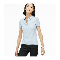WOMENS SLIM FIT STRETCH MINI COTTON PIQUEE POLO SHIRT_RILL