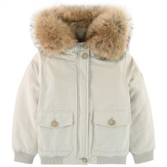 Parka with removable fur