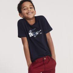 Boys Oversized Crocodile Cotton Jersey T-shirt