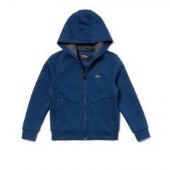 Boys SPORT Zip Technical Fleece Sweatshirt - Lacoste x Novak Djokovic Off Court Premium Edition